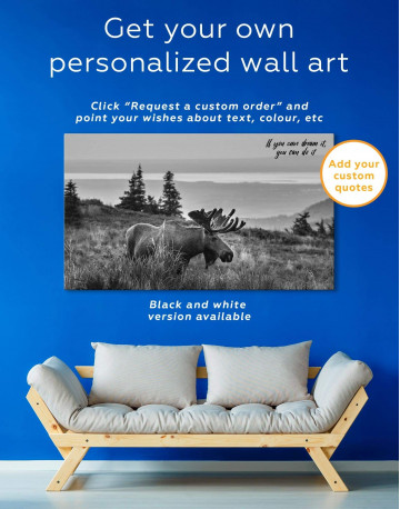 Wild Moose Canvas Wall Art - image 1