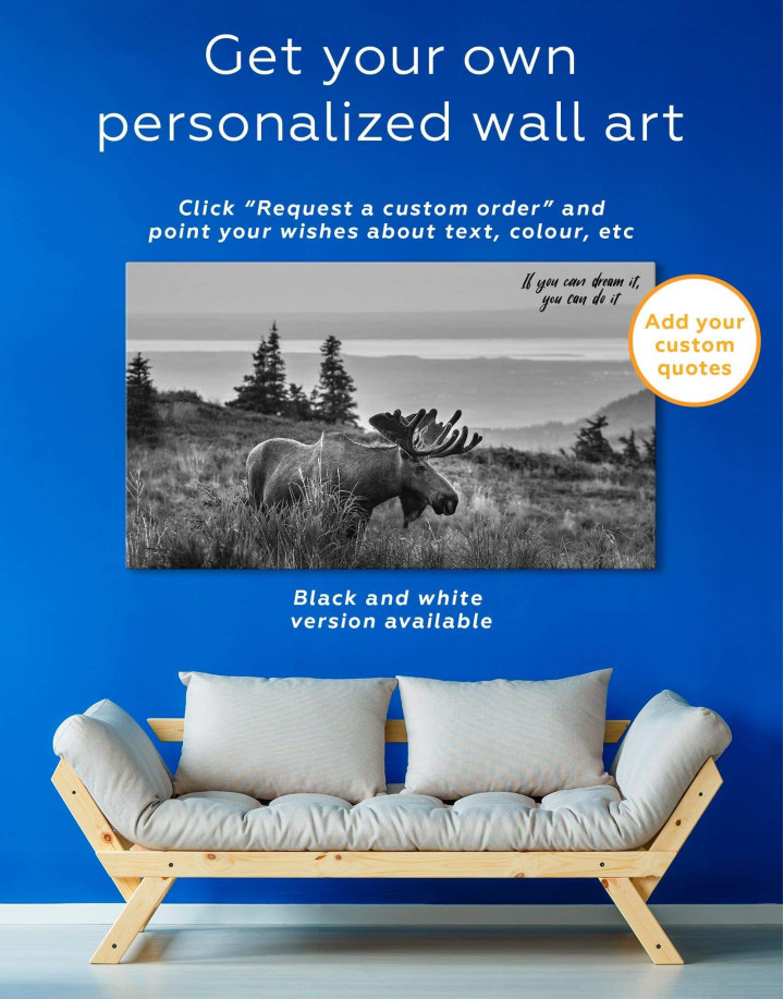 Wild Moose Canvas Wall Art - Image 1