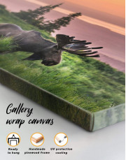 Wild Moose Canvas Wall Art - Image 5