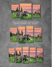 Wild Moose Canvas Wall Art - Image 2
