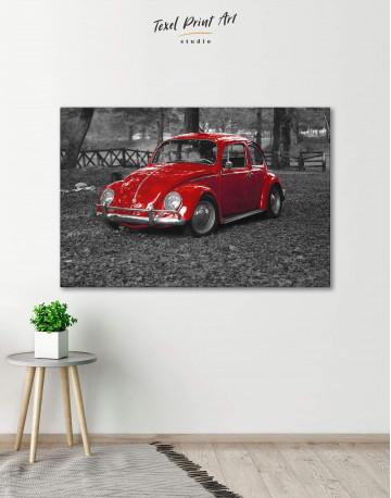 Volkswagen Beetle 1963 Retro Car Canvas Wall Art