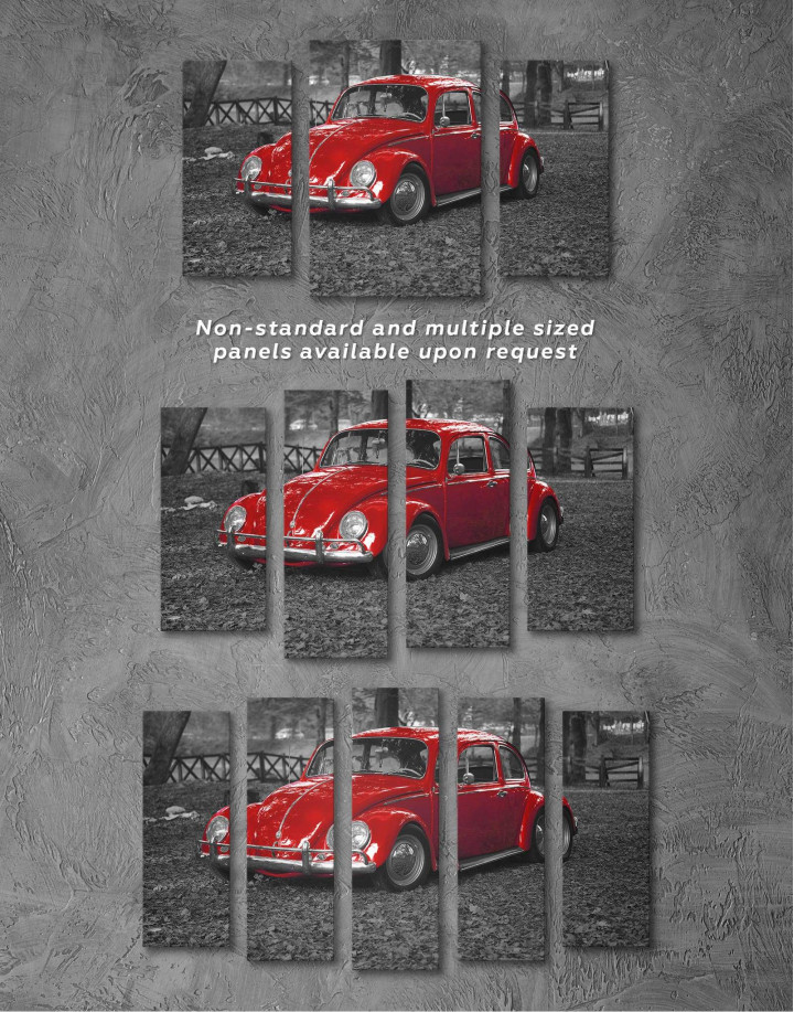 Volkswagen Beetle 1963 Retro Car Canvas Wall Art - Image 4