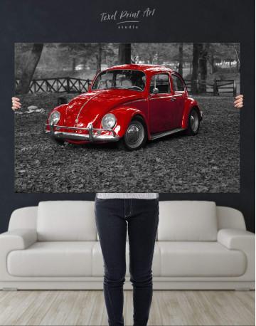 Volkswagen Beetle 1963 Retro Car Canvas Wall Art - image 2