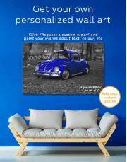 Volkswagen Beetle 1963 Retro Car Canvas Wall Art - Image 5