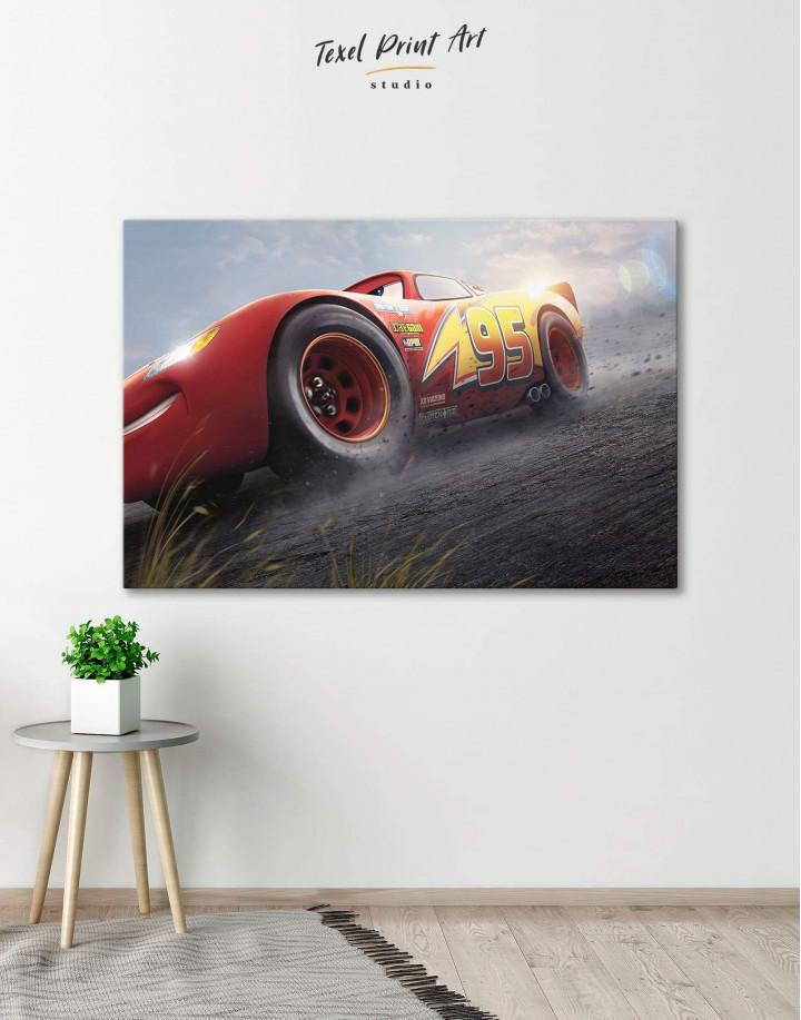 Lightning McQueen Cars 3 Canvas Wall Art - Image 0
