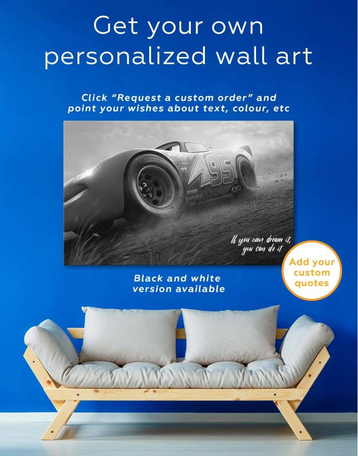 Lightning McQueen Cars 3 Canvas Wall Art - Image 1
