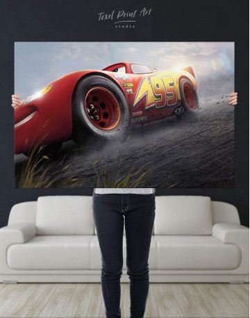 Lightning McQueen Cars 3 Canvas Wall Art - image 4