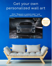 Steel Audi A8 Canvas Wall Art - Image 1