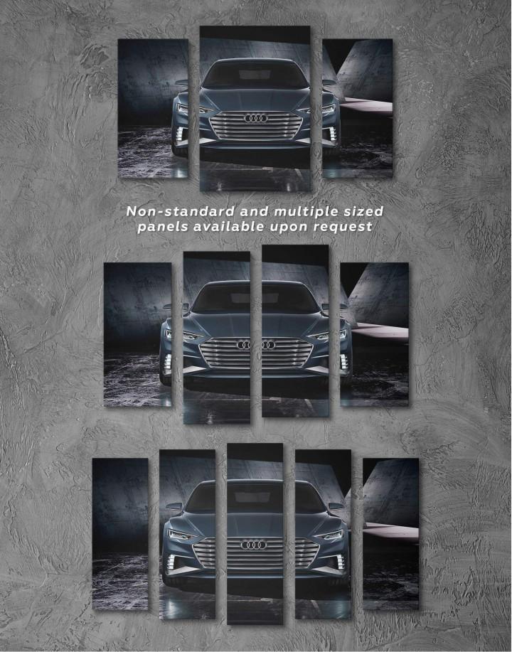 Steel Audi A8 Canvas Wall Art - Image 2