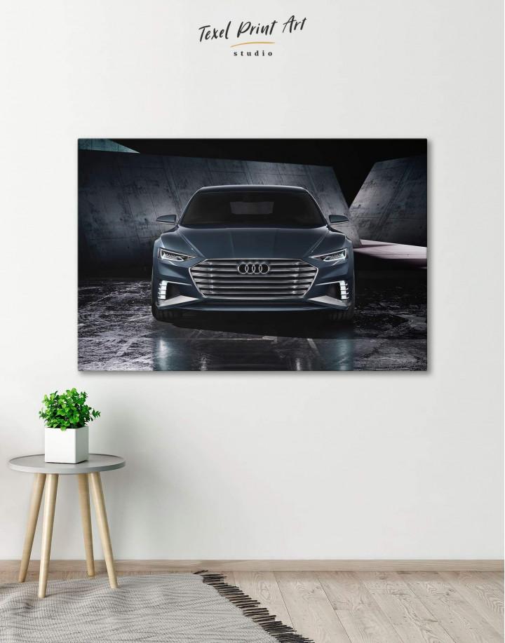 Steel Audi A8 Canvas Wall Art - Image 0