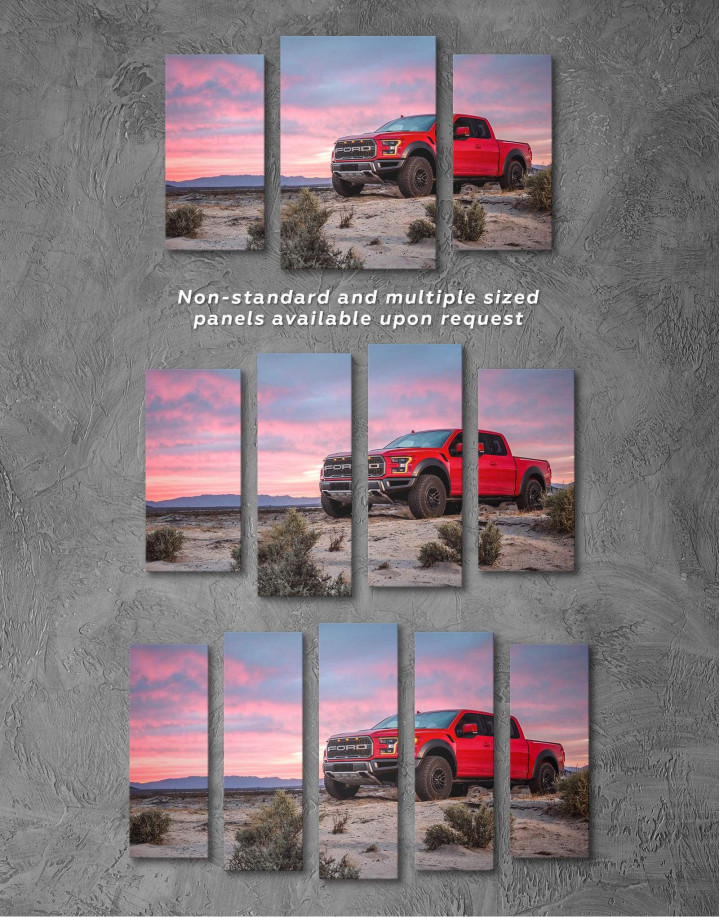 Ford F-150 Raptor Canvas Wall Art - Image 2