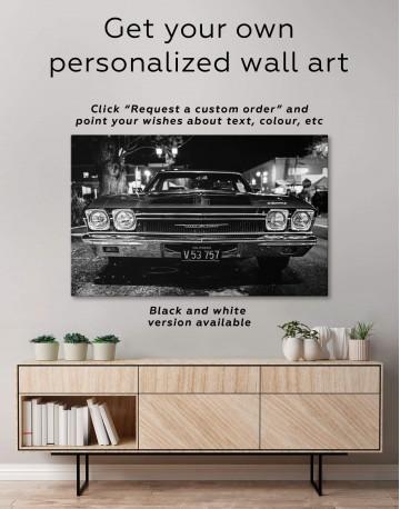 Vintage Car Canvas Wall Art - image 1