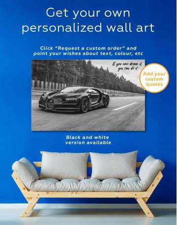 Bugatti Chiron Canvas Wall Art - image 5
