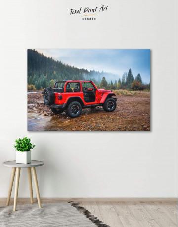 Jeep Wrangler Canvas Wall Art