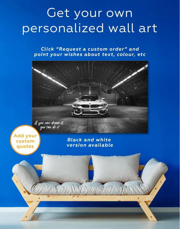 BMW M4 Canvas Wall Art - Image 1