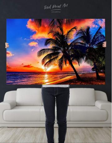 Coast Sunset Canvas Wall Art - image 2