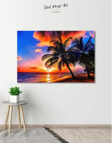 Coast Sunset Canvas Wall Art