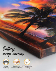 Coast Sunset Canvas Wall Art - Image 1