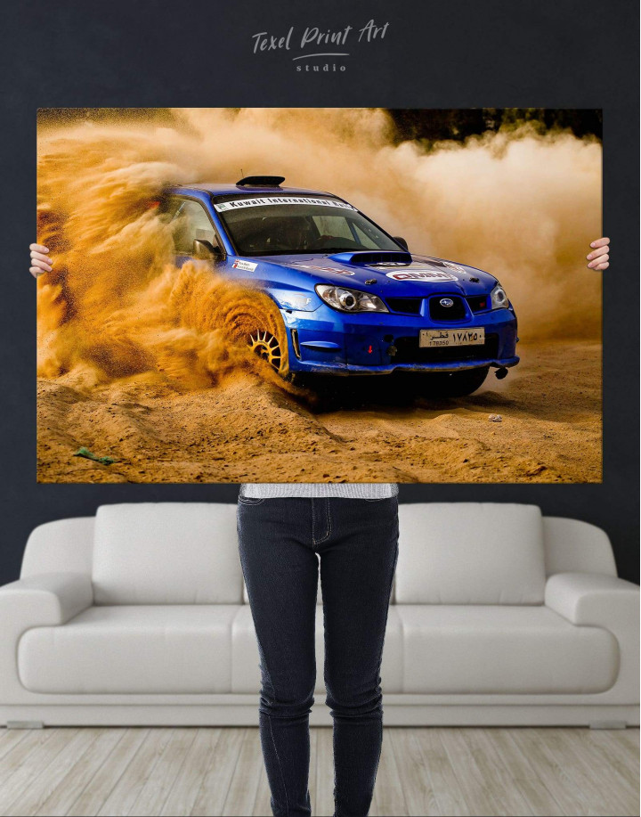 Subaru Impreza WRX STi Rally Canvas Wall Art - Image 2