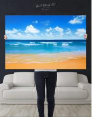 Paradise Beach Canvas Wall Art - Image 2