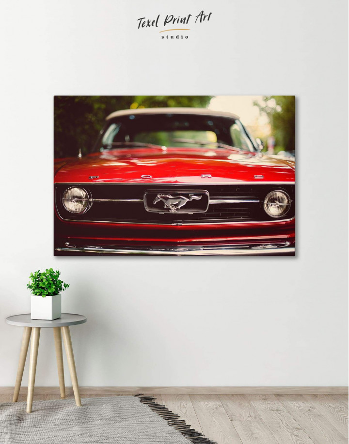 Ford Mustang 1967 Canvas Wall Art