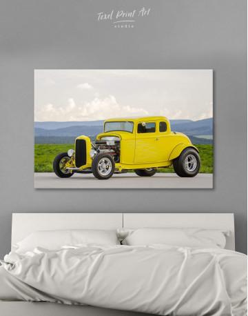 Yellow Hot Rod Canvas Wall Art