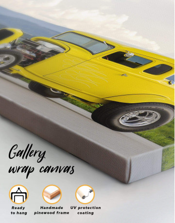 Yellow Hot Rod Canvas Wall Art - image 5