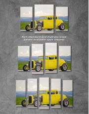 Yellow Hot Rod Canvas Wall Art - Image 2