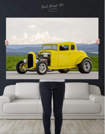 Yellow Hot Rod Canvas Wall Art - image 4