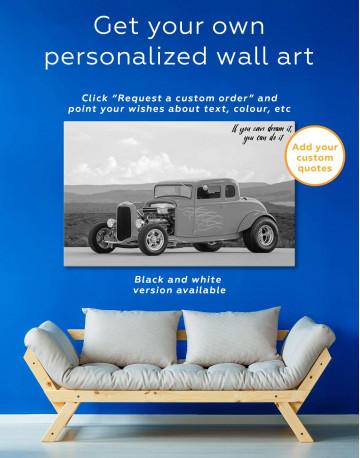 Yellow Hot Rod Canvas Wall Art - image 1
