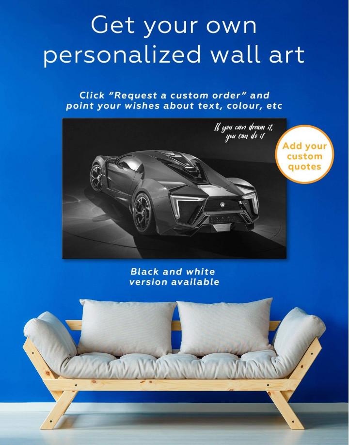 Lykan Hypersport Canvas Wall Art - Image 1