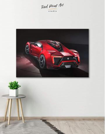 Lykan Hypersport Canvas Wall Art