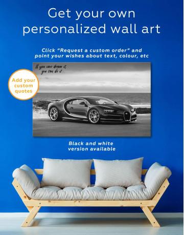 Bugatti Chiron Sports Car Canvas Wall Art - image 1