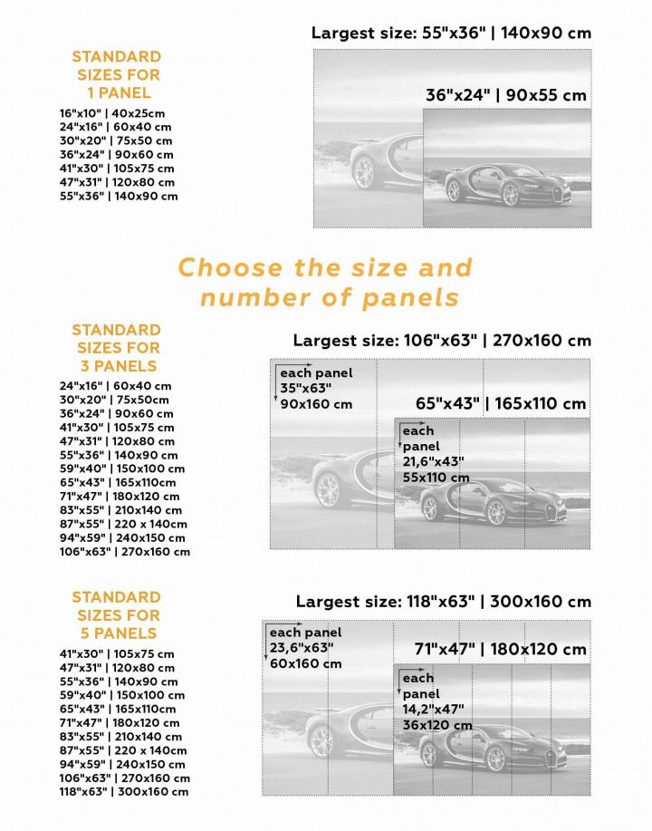 Bugatti Chiron Sports Car Canvas Wall Art - Image 3