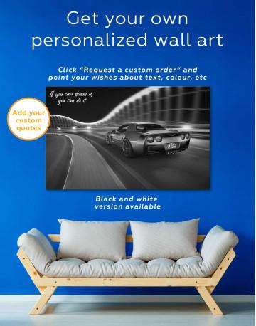 Speedy Chevrolet Corvette Canvas Wall Art - image 1