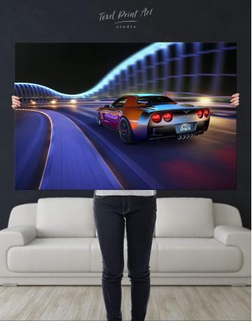 Speedy Chevrolet Corvette Canvas Wall Art - image 4