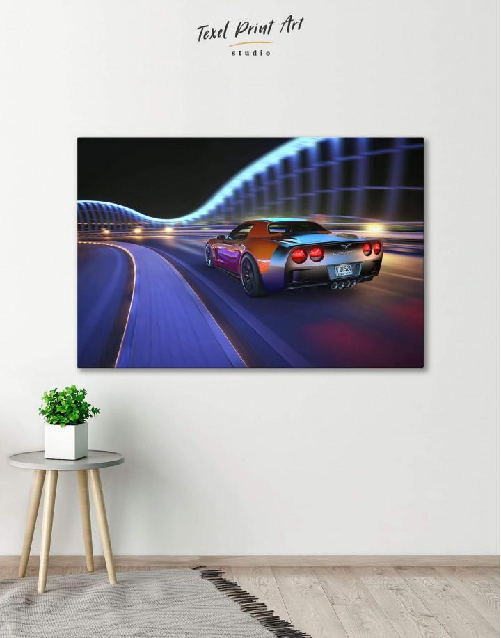 Speedy Chevrolet Corvette Canvas Wall Art