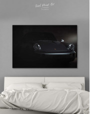 Silver Porsche 964 Canvas Wall Art - Image 0