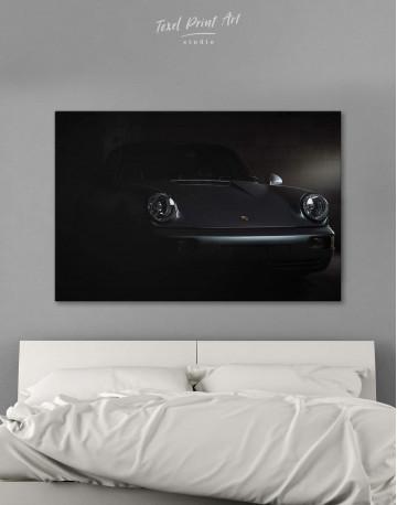 Silver Porsche 964 Canvas Wall Art