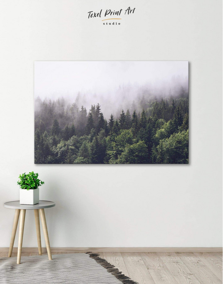 Misty Forest Canvas Wall Art - Image 0