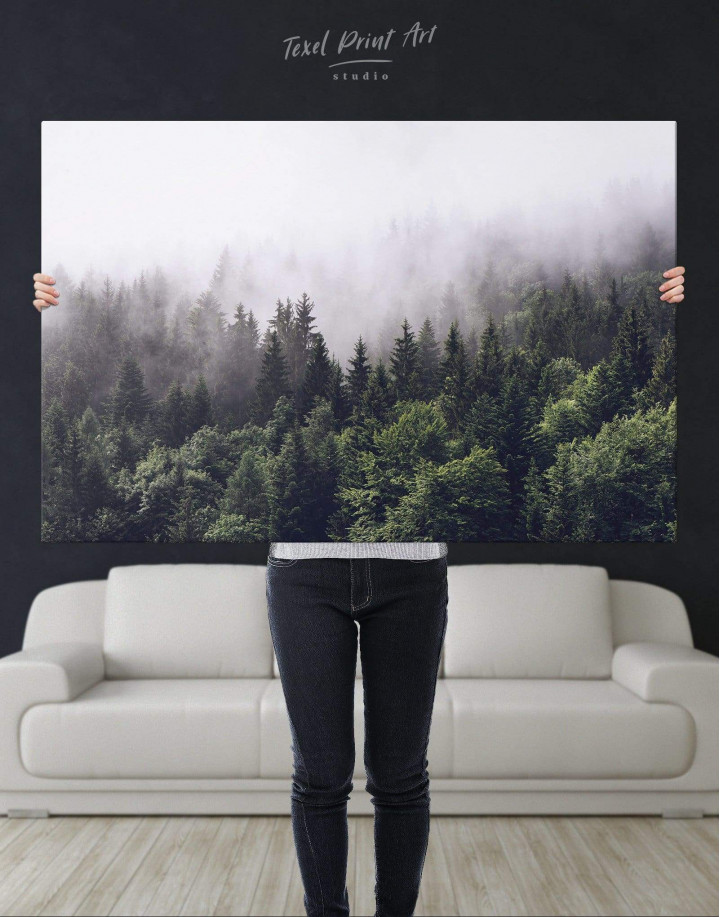 Misty Forest Canvas Wall Art - Image 2