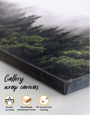 Misty Forest Canvas Wall Art - image 1