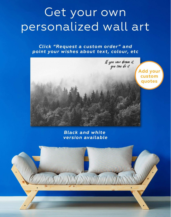 Misty Forest Canvas Wall Art - Image 5