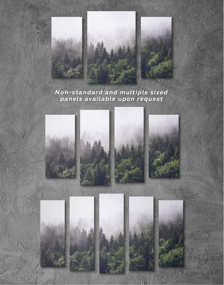 Misty Forest Canvas Wall Art - Image 4