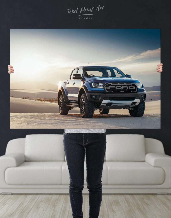Powerful Ford Raptor Canvas Wall Art - Image 4