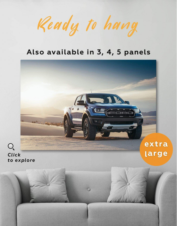 Powerful Ford Raptor Canvas Wall Art - Image 0