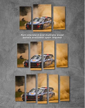Hyundai i20 WRC in a Golden Dust Canvas Wall Art - image 2
