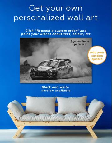 Hyundai i20 WRC in a Golden Dust Canvas Wall Art - image 1