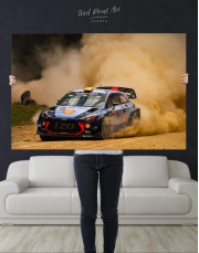 Hyundai i20 WRC in a Golden Dust Canvas Wall Art - Image 4