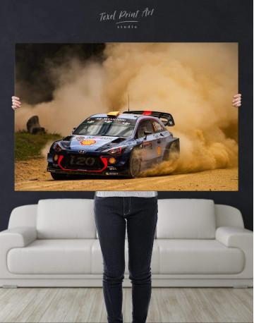 Hyundai i20 WRC in a Golden Dust Canvas Wall Art - image 4